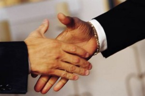 sales training handshake